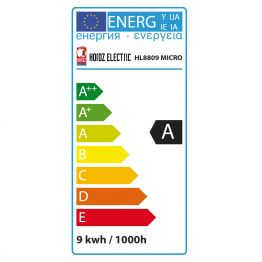 9W WEISS E14 ENERGIESPARLAMPE