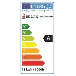 11 W KALTWEISS E27 ENERGIESPARLAMPE