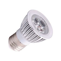 3x1 W POWER LED KALTWEISS E27 LED LAMPE